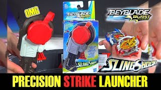 PRECISION STRIKE LAUNCHER  BEYBLADE BURST TURBO! Unboxing & Review - EPIC HASBRO WIND UP LAUNCHER