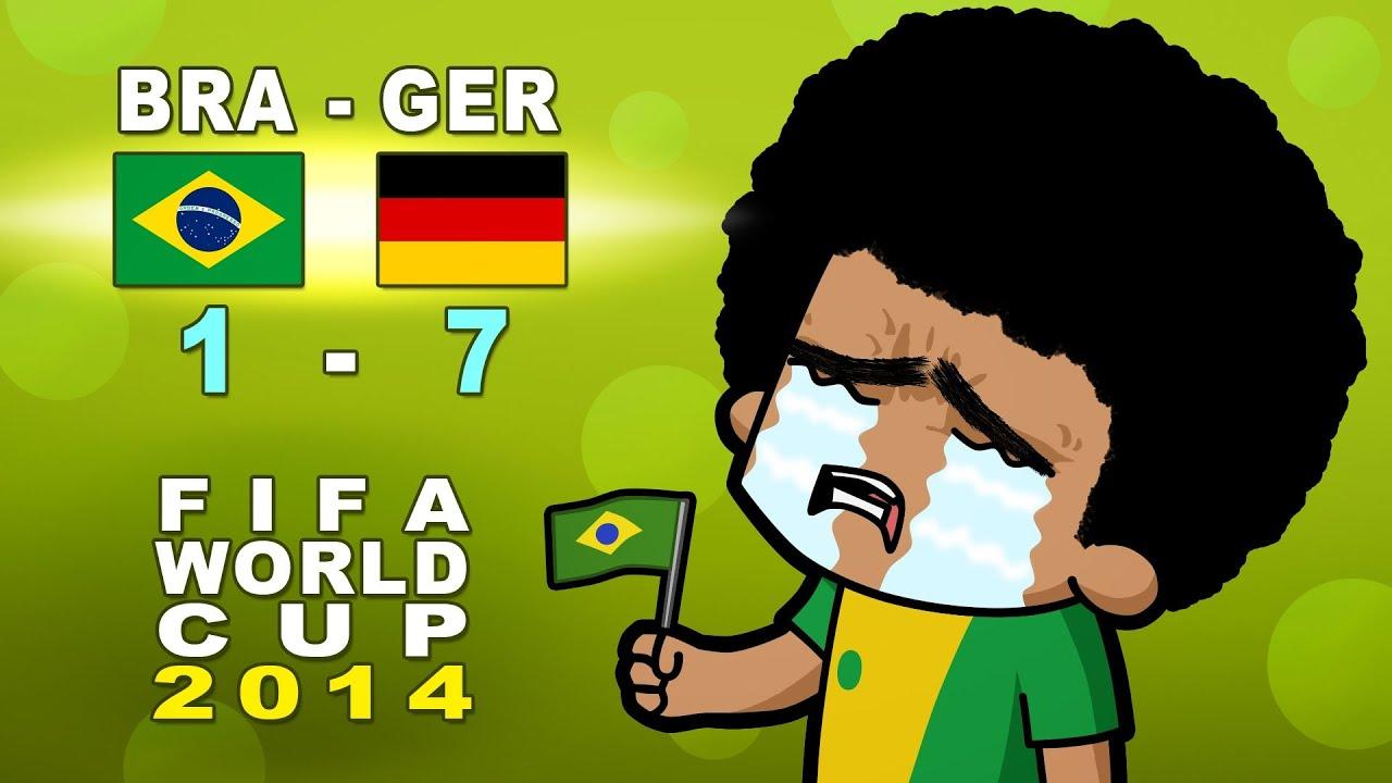 brazil vs germany semi reaction fifa world cup