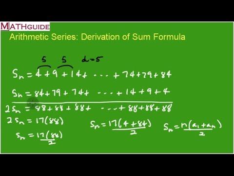Arithmetic Series: Deriving The Sum Formula