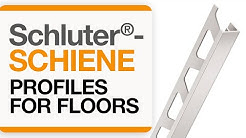 How to install a tile transition on floors: Schluter®-SCHIENE profile