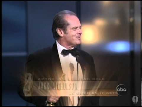 "Jack Nicholson winning an Oscar® for ""As Good as it Gets"""