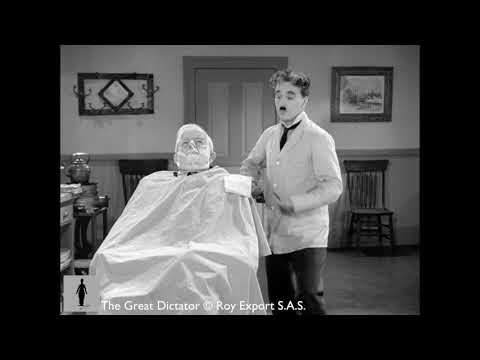Charlie Chaplin - The Great Dictator - Barber Shop Scene (Brahms' Hungarian Dance No. 5)