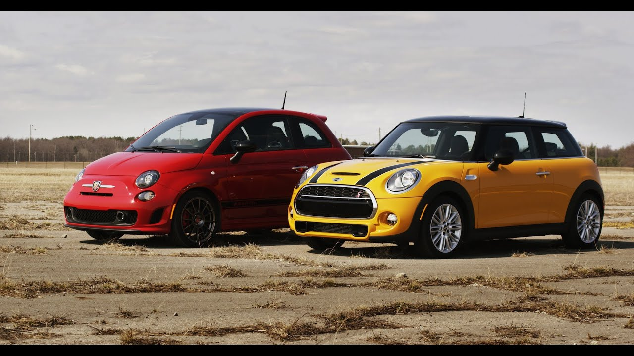 2014 Fiat 500 Abarth Vs 2014 Mini Cooper S Standing Mile Youtube