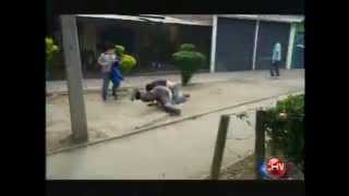 Graban violenta pelea entre conductor de Transantiago y pasajero
