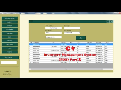 C# Tutorial for Inventory Management System (POS) Part-2