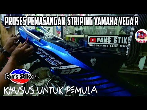 Cara pasang stiker motor | Behel jok belakang | Yamaha fino menggunakan stiker putih mengkiilap / gl.
