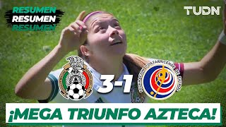 Resumen y goles | México 3-1 Costa Rica | Amistoso Internacional Femenil 2021 | TUDN