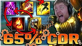 THIS IS THE MOST TILTING SUPPORT EVER!! 65% CDR ZZ'ROT TELEPORT SMITE FLASH IGNITE EXHAUST BLITZ!?!