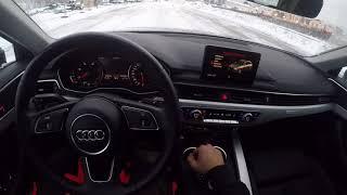 Audi A4 B9 TDI Quattro showing the quattro working