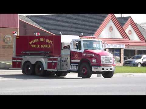 *RARE* Regina Fire Dept. Water-Tanker 504 Responding