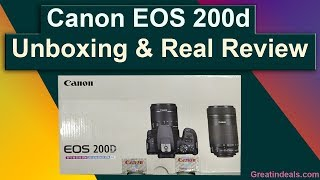 Canon Eos 200d  DSLR Unboxing & Real  Review