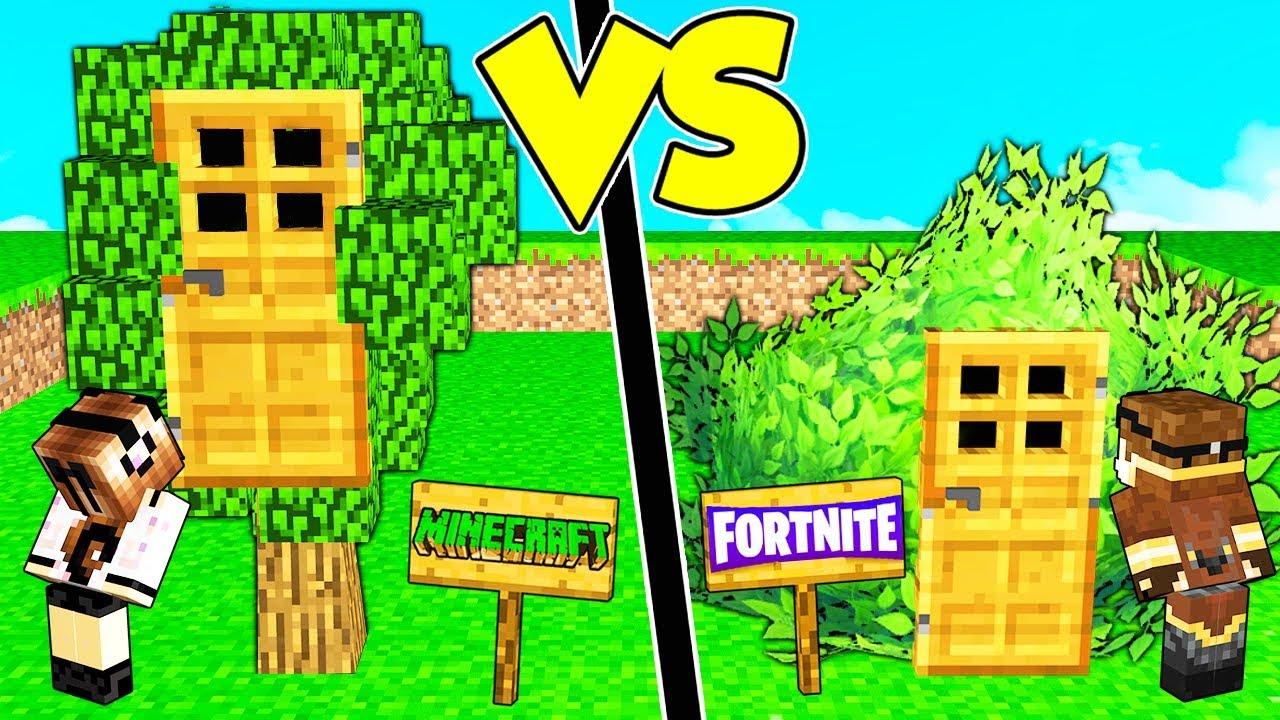Casa sull 39 albero di minecraft contro casa cespuglio di fortnite youtube - Casa sull albero minecraft ...