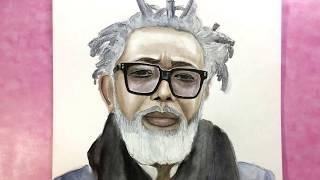 Портрет акварелью| Как рисовать акварелью пожилого человека