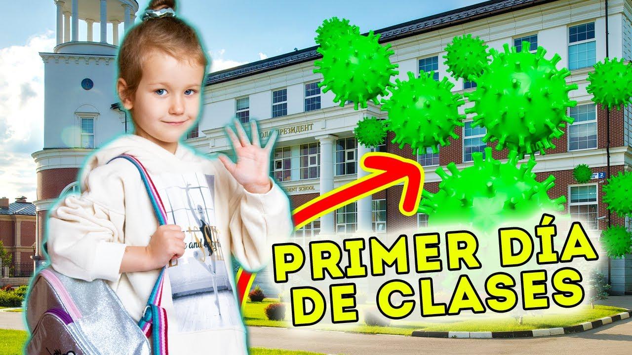 PRIMER DÍA DE CLASES DESPUÉS DEL CORON...😱  RUTINA DE MAÑANA DE ERIKA EN CUARENTENA | Yippee Family