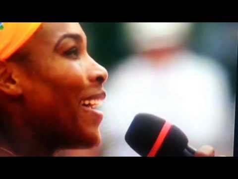 Serena Williams wins French Open speaks French