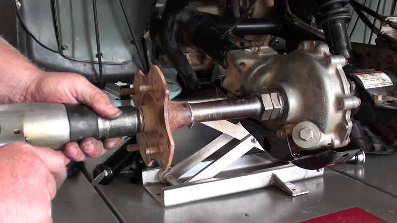 hight resolution of pt 4 honda trx300fw rear axle bearing brake repair at d ray s shop youtube