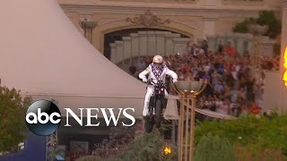 Travis Pastrana replicates Evel Knievel motorcycle jumps