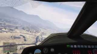 GTA V on PS4 - Landing a Plane Without Landing Gear