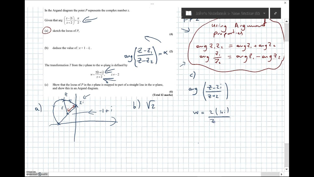argument of complex numbers pdf
