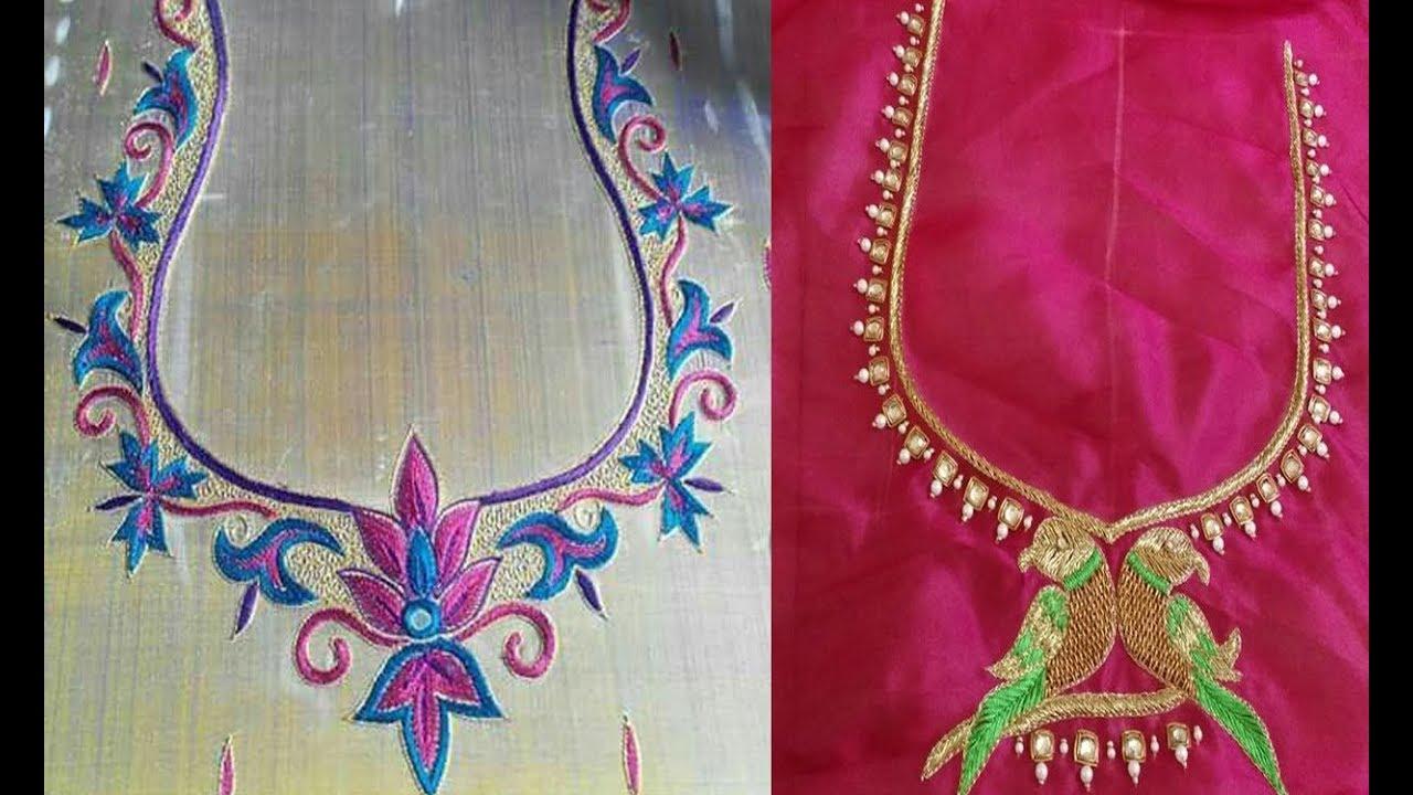 Simple Thread Work Neck Designs 2018 Simple Thread Embroidery Work