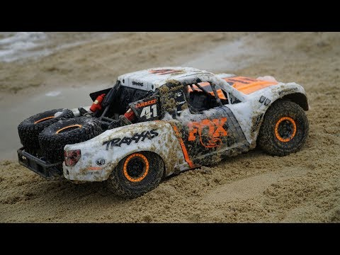 Traxxas UDR Unlimited Desert Racer 6S Trophy Truck Basher | RC Beach Bash In MUD | Bonus Footage