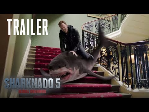 SHARKNADO 5: Global Swarming | Official Trailer | SYFY