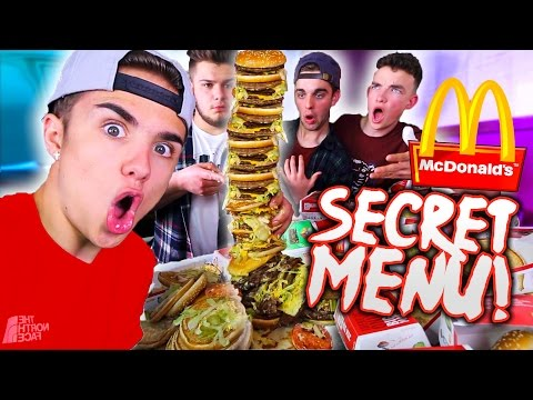 DIY MCDONALDS WORLDS LARGEST BURGER! *SECRET MENU*