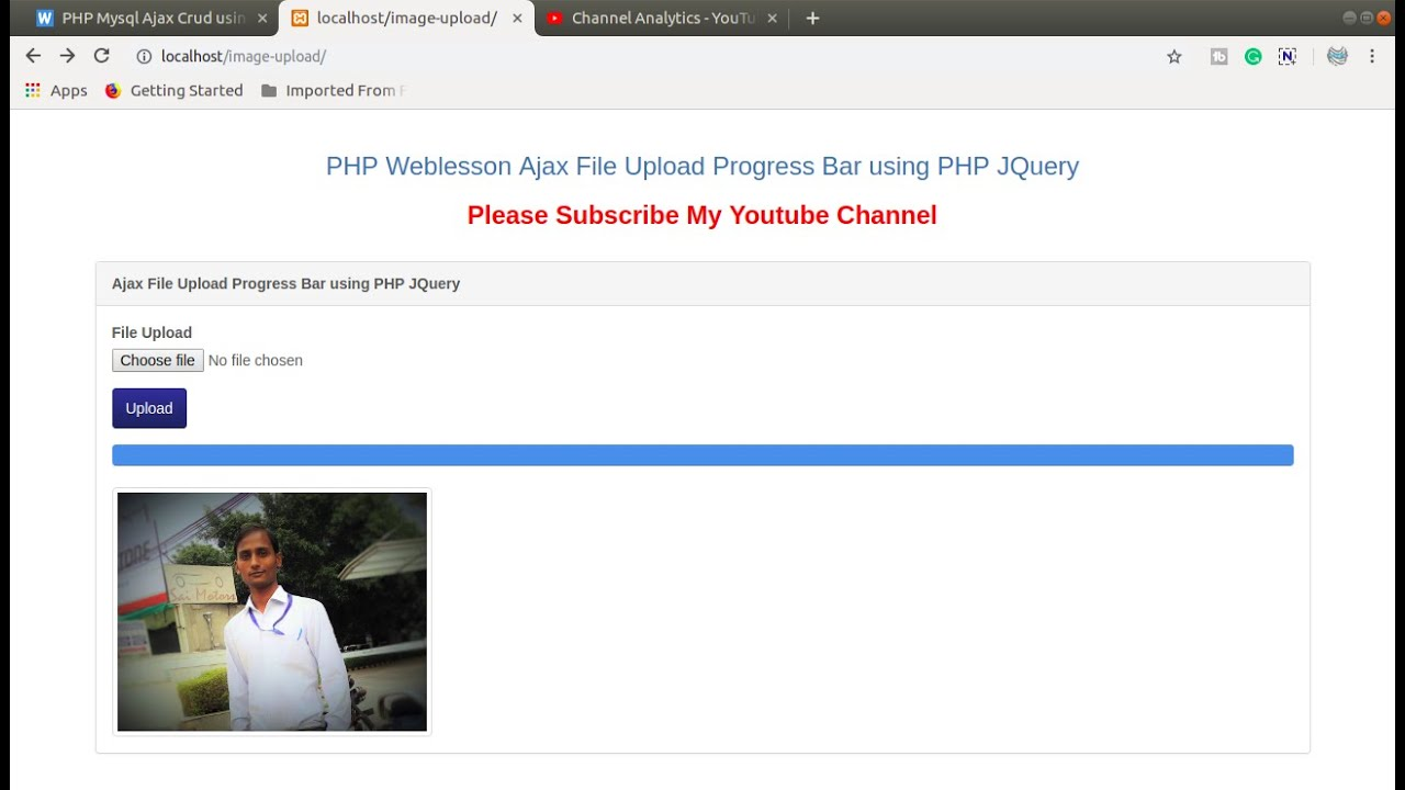 File Upload Progress Bar With Jquery And PHP