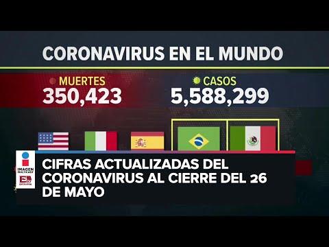Estadísticas de coronavirus en el mundo (26 de mayo)