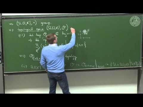 The Lie group SL(2,C) and its Lie algebra sl(2,C) - lec 15 - Frederic Schuller