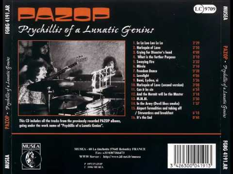 Pazop  - Psychillis of a lunatic genius 1972