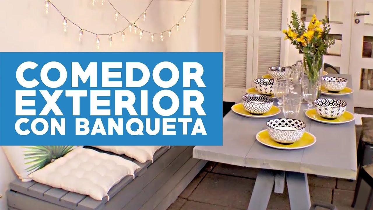 Cómo hacer un comedor exterior con una banqueta baúl? - YouTube