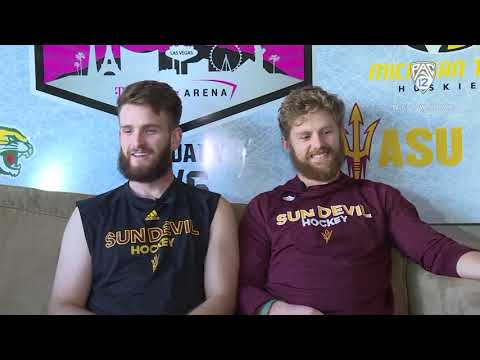 Arizona State men's ice hockey's Johnny Walker and Jacob Wilson take 'The Pregame' crew on a tour...