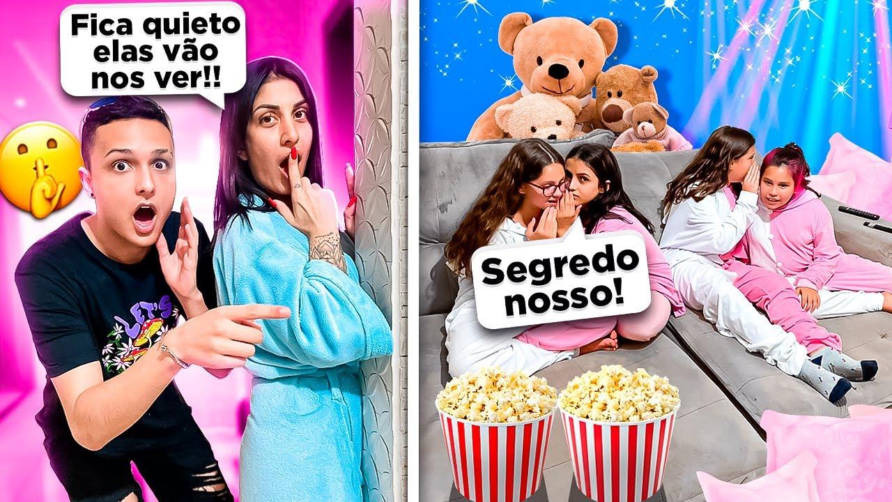 ESPIONAMOS A FESTA DO PIJAMA DA ISA E AS FÃS!!! QUAL SEGREDO DELAS???