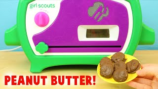 Girl Scout Cookie Oven- Making Chocolate Peanut Butter Mini Cookies!