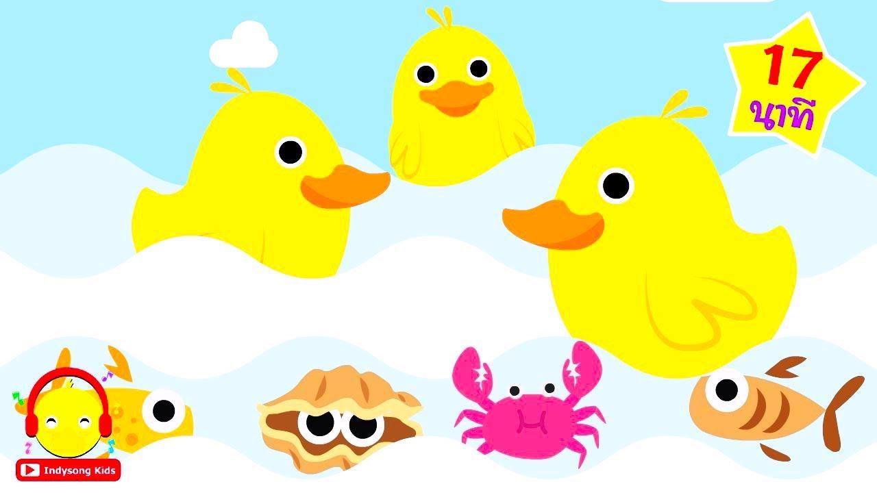 เพลงเป ดก าบก าบ เป ดอาบน าในคลอง ฉบ บเต ม Thai Duck Song เพลงเด กอน การ ต น เพลง