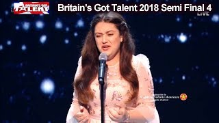 Amy Marie Borg Opera Singer SHE OWNED IT Simon says Britain's Got Talent 2018 Semi Final4 BGT S12E11