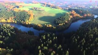 Entlang d. Wupper Hückeswagen Germany Aerial Video
