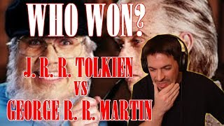 J. R. R. Tolkien vs George R. R. Martin. Epic Rap Battles of History {{ REACTION }}