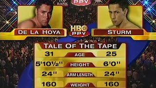 5. Juni 2004 - Felix Sturm vs. Oscar de la Hoya (MGM Grand Hotel & Casino, Las Vegas, Nevada, USA)