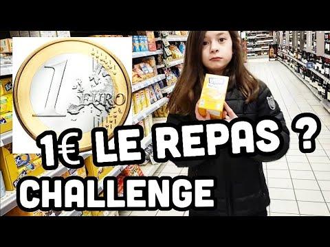 CHALLENGE : 1€ PAR PERSONNE POUR UN REPAS ? A 10 ans elle relève le défis et fait les courses
