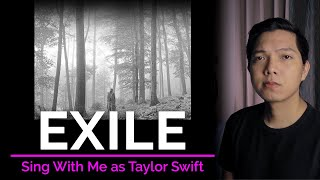 Exile (Male Part Oฑly - Karaoke) - Taylor Swift ft. Bon Iver