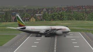 Most Horrible Crazy Landing In A Hurricane | X-Plane 11