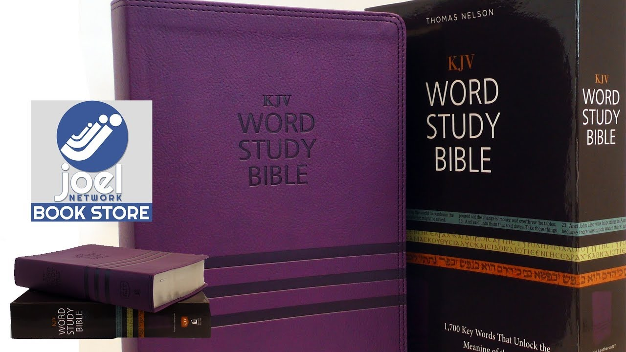 KJV, Word Study Bible, Leathersoft, Purple, Red Letter │ ISBN   9780718085629