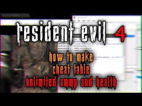 Resident Evil 4 PC | How to Make Cheat Table for Unlimited Health and Ammo 2019 thumbnail
