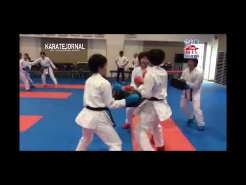 JKF Trainig camp kumite training by imai kenichi naniwa highschool