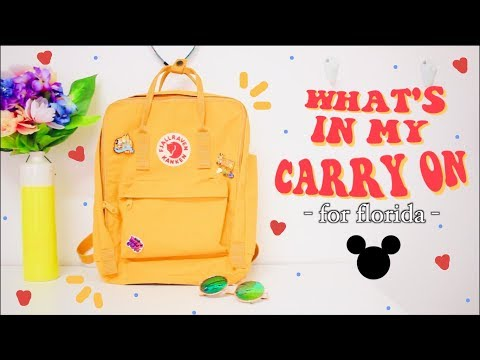 What's In My Carry On Bag + Travel Essentials // Fjallraven Kanken 🎒