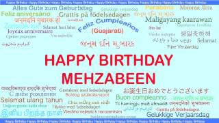Mehzabeen   Languages Idiomas - Happy Birthday
