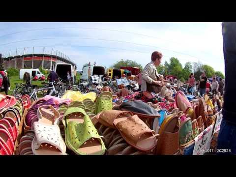 Рынок в г. Любин Польша , бытовая техника Б\У, вещи, Машины, и т.д