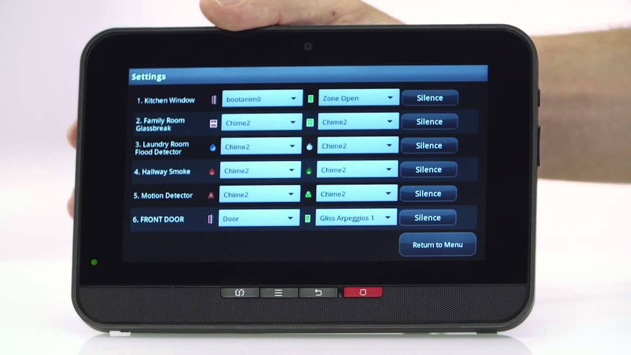 Configure Sounds Bright House Networks Home Security and Control